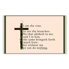 John 15 5 King James Bible Verse Decal