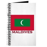 Maldives Flag Merchandise Journal