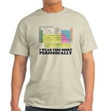 I wear this shirt periodically periodic table Ligh