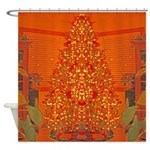 Christmas tree Shower Curtain