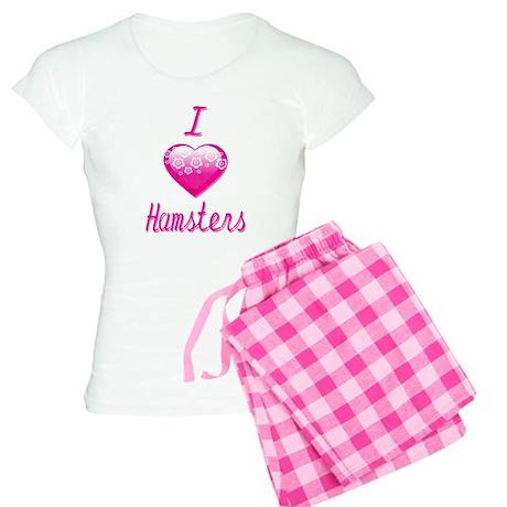 I Love/Heart Hamsters Women's Light Pajamas