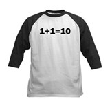 Binary Equation Joke 1 +1 = 10 Tee