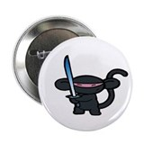 Black Minky with Shiny Sword Button