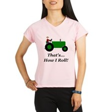 Green Tractor How I Roll Performance Dry T-Shirt