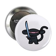 Black Ninja Minky Button