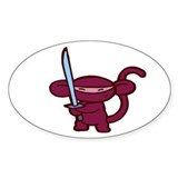 Red Ninja Minky Oval Decal
