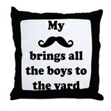 My Mustache: Throw Pillow