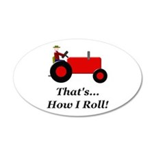 Red Tractor How I Roll Wall Decal