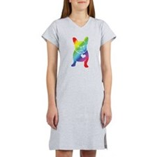 French Bulldog Love Cartoon RAINBOW Women's Nights