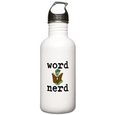 Word Nerd Sports Water Bottle