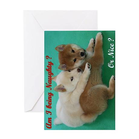 Naughty and Nice Xmas greeting card
