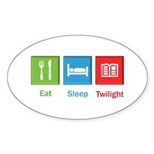 Eat Sleep Twilight Rectangle Decal