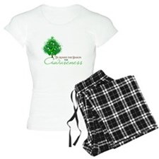 Green Ribbon Xmas Tree Pajamas