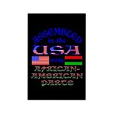 USA / African American Parts Black Rectangle Magne