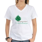 Emerald Green Ribbon Xmas Tree Shirt