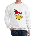 Elf Cat (red hat) 2 Sweatshirt (white)