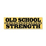 Old School Strength Car Magnet 10 x 3