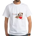 Havanese Heart White T-Shirt