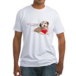 Havanese Heart Fitted T-Shirt