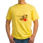 Havanese Heart Yellow T-Shirt
