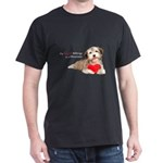 Havanese Heart Dark T-Shirt