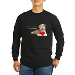 Havanese Heart Long Sleeve Dark T-Shirt