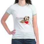 Havanese Heart Jr. Ringer T-Shirt