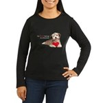 Havanese Heart Women's Long Sleeve Dark T-Shirt