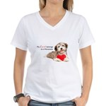 Havanese Heart Women's V-Neck T-Shirt