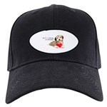 Havanese Heart Black Cap