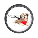 Havanese Heart Wall Clock
