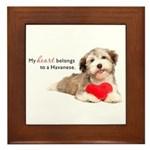Havanese Heart Framed Tile