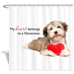 Havanese Heart Shower Curtain