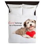 Havanese Heart Queen Duvet