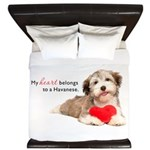 Havanese Heart King Duvet