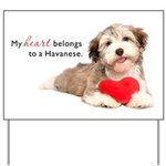 Havanese Heart Yard Sign
