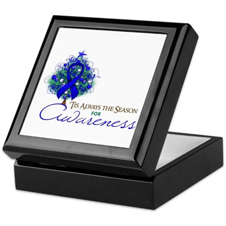 Blue Ribbon Xmas Tree Keepsake Box