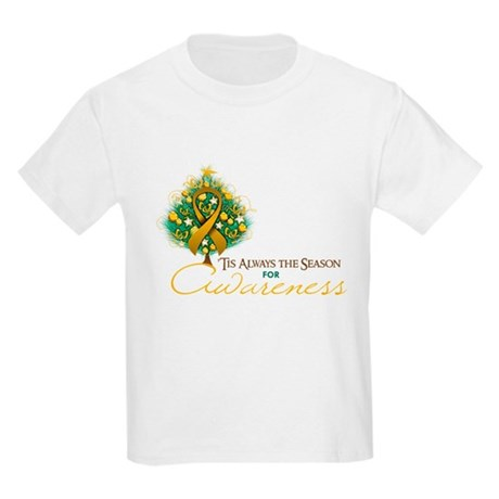 Amber Ribbon Xmas Tree Kids Light T-Shirt