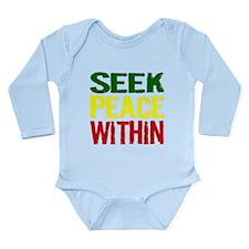 SEEK PEACE WITHIN Long Sleeve Infant Bodysuit