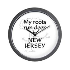 New Jersey Roots Wall Clock