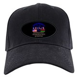 USA/African American Parts on Black, Baseball Hat