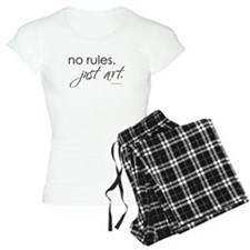 no-rules-just-art-white.png Pajamas