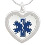 EMT Paramedic EMS Logo Heart Necklace