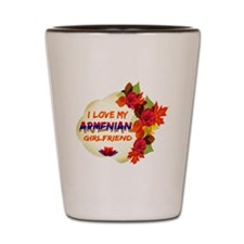 Armenian Girlfriend Valentine design Shot Glass