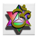 MerKaBa Om LightBody Tile Coaster