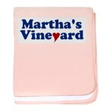 Martha's Vineyard with Heart baby blanket
