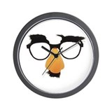 Groucho Marx Moustache Glasses Wall Clock