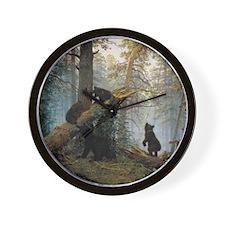 Ivan Shishkin Morning In A Pine Forest Wall Clock