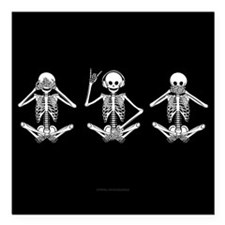 "Hear No Evil? Square Car Magnet 3"" x 3"""