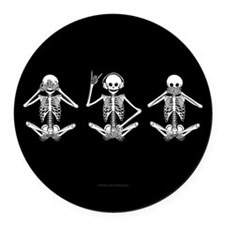 Hear No Evil? Round Car Magnet